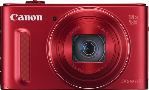 Canon - PowerShot SX610 HS 20.2-Megapixel Digital Camera - Red
