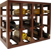 Epicureanist - 12-Bottle Stackable Wine Rack - Medium Brown