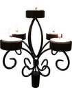 Epicureanist - Wine Bottle Candelabra - Black
