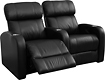 Buy Home Theater Systems   - TheaterSeatStore Studio 2-Seat Straight Leather Home Theater Seating