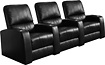 Buy Home Theater Systems   - TheaterSeatStore Director 3-Seat Straight Leather Home Theater Seating