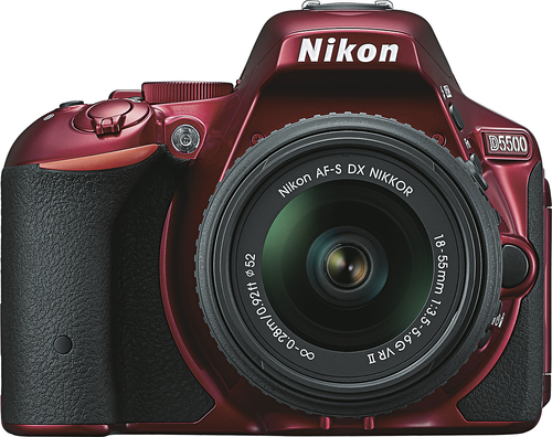 Nikon - D5500 Dslr Camera with AF-S DX NIKKOR 18-55mm f/3.5-5.6G VR II Lens - Red