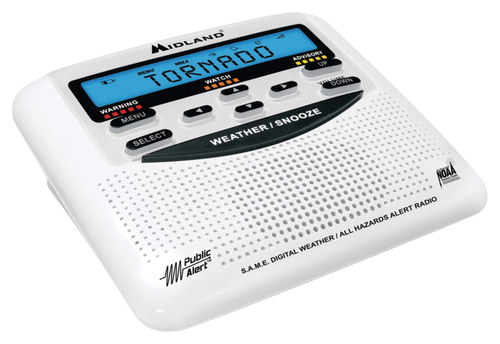 Midland - All-Hazard Weather Band Radio - White