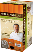 Wolfgang Puck French Vanilla Single Cup Coffee Pods (18-Pack)