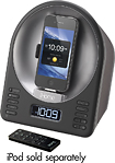 iHome - Alarm Clock Radio Speaker System for Apple iPhone and iPod - Black