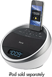 iHome - Color-Changing Alarm Clock Radio for Apple iPhone and iPod - White