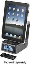 iHome - Dual-Alarm Clock Radio for Apple iPad, iPhone and iPod - Gunmetal