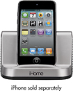 iHome - Portable Speaker System for Apple iPad, iPhone and iPod - Gunmetal