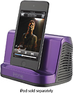 iHome - Portable Speaker System for Apple iPad, iPhone and iPod - Purple