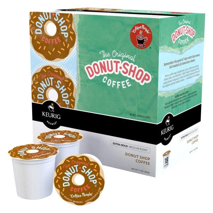 Keurig - Coffee People Donut Shop K-Cups (108-Pack) - White