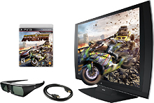 "Deals List: 24"" Sony PlayStation 3D 1080p Monitor + 3D Glasses + MotorStorm Apocalypse PS3 Game"