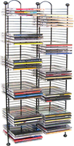 Atlantic - 100-Disc Nestable CD Tower - Gunmetal