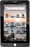 Coby - Tablet with Capacitive Touch Screen - Black