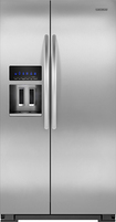 KitchenAid - 264 Cu Ft Side-by-Side Refrigerator with Thru-the-Door Ice and Water - Stainless-Steel