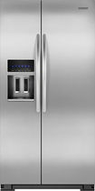 KitchenAid - 236 Cu Ft Counter-Depth Side-by-Side Refrigerator - Stainless-Steel