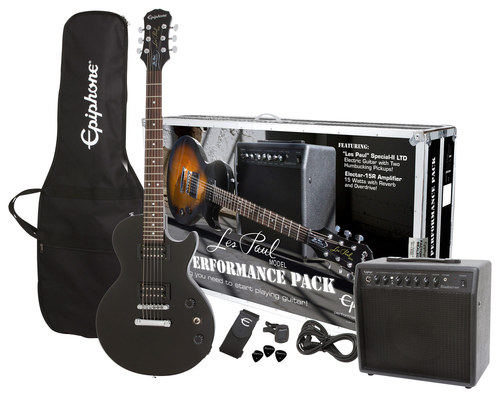 Epiphone - Les Paul Special-II LTD Electric Guitar Performance Pack - Ebony