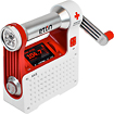 Eton - American Red Cross AXIS TurboDyne Series AM/FM/NOAA Weather Band Radio - White/Red