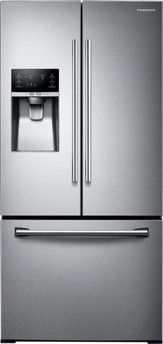 Samsung - 25.5 Cu. Ft. French Door Refrigerator with Thru-the-Door Ice and Water - Stainless Steel (Silver)