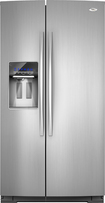 Whirlpool - 245 Cu Ft Counter Depth Side-by-Side Refrigerator - Monochromatic Stainless-Steel