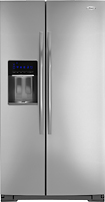 Whirlpool - 297 Cu Ft Side-by-Side Refrigerator with Thru-the-Door Ice and Water - Monochromatic Stainless-Steel