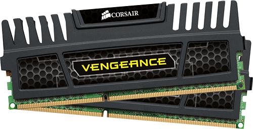 Corsair - Vengeance 2-Pack 4GB DDR3 Dimm Desktop Memory Kit - Black