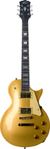 Oscar Schmidt - 6-String Full-Size Electric Guitar - Gold Top