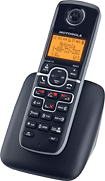 Motorola - DECT 60 Cordless Expansion Handset for Motorola L700 Expandable Phone Systems