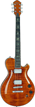 Michael Kelly - Patriot Custom 6-String Full-Size Electric Guitar - Amber