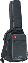 Tour Grade - Padded Gig Bag for Most Classical Guitars - Black/Grey