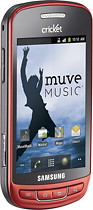 Cricket Muve Samsung Vitality No-Contract Mobile Phone - Red