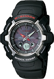 Casio - Men's G-Shock Analog/Digital Solar Atomic Watch - Black