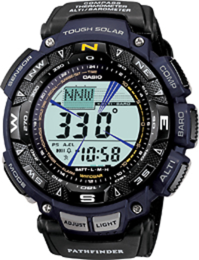 Casio - Men's Pathfinder Triple Sensor Multifunction Sport Watch - Blue