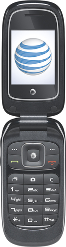 At&t GoPhone - Z222 No-Contract Cell Phone - Dark Blue