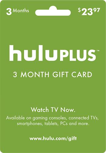 Hulu - Hulu Plus 3-Month Gift Card