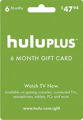 Hulu - Hulu Plus 6-Month Gift Card
