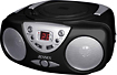 Jensen - Portable Stereo CD Player with AM/FM Radio - Black