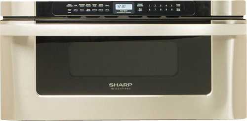 Sharp - 1.2 Cu. Ft. Built-In Microwave - Stainless Steel (Silver)