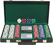 Trademark Global - 300 Texas Hold 'Em Poker Chips Set with Deluxe Case