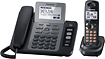 Panasonic - DECT 6.0 Expandable Phone System with Digital Answering Machine and USB Port - Black