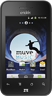 Cricket - Muve ZTE Score No-Contract Mobile Phone - Black