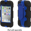 Griffin Technology - Survivor Case for 4th-Generation Apple iPod touch - Black/Blue