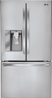 LG - 24.5 Cu. Ft. French Door Refrigerator with Thru-the-Door Ice and Water - Stainless-Steel