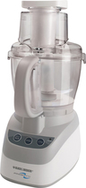 Black & Decker - PowerPro 10-Cup Food Processor - White