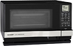 Sharp - SteamWave 10 Cu Ft Mid-Size Microwave - Black/Stainless-Steel