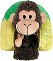 Happy Nappers Hut-to-Monkey Reversible Pillow