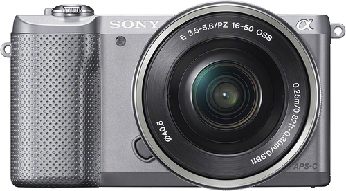 Sony - Alpha a5000 Mirrorless Camera with 16-50mm Retractable Lens - Silver
