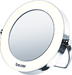 Beurer - Lighted Pocket Mirror - White/Chrome