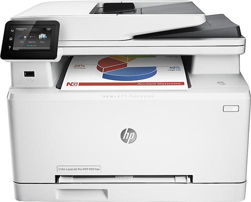HP - LaserJet Pro m277dw Wireless Color All-In-One Printer - Gray