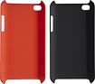 Dynex - Hard Shell Case for 4th-Generation Apple iPod touch (2-Pack) - Black/Red