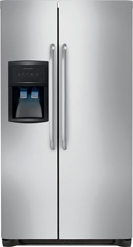 Frigidaire - 22.6 Cu. Ft. Side-by-Side Refrigerator - Stainless Steel (Silver)